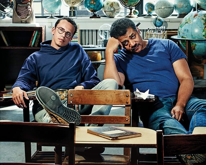 Logic и Нил Деграсс Тайсон о концептуальных альбомах, сотрудничестве и чернокожих в Лувре