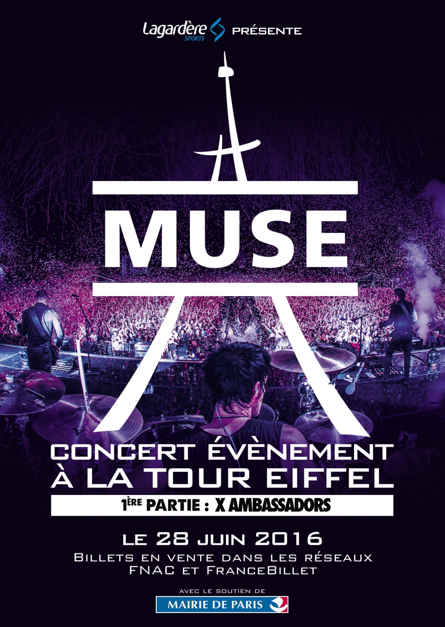 PARIS! Muse are performing at the Eiffel Tower on 28 June.