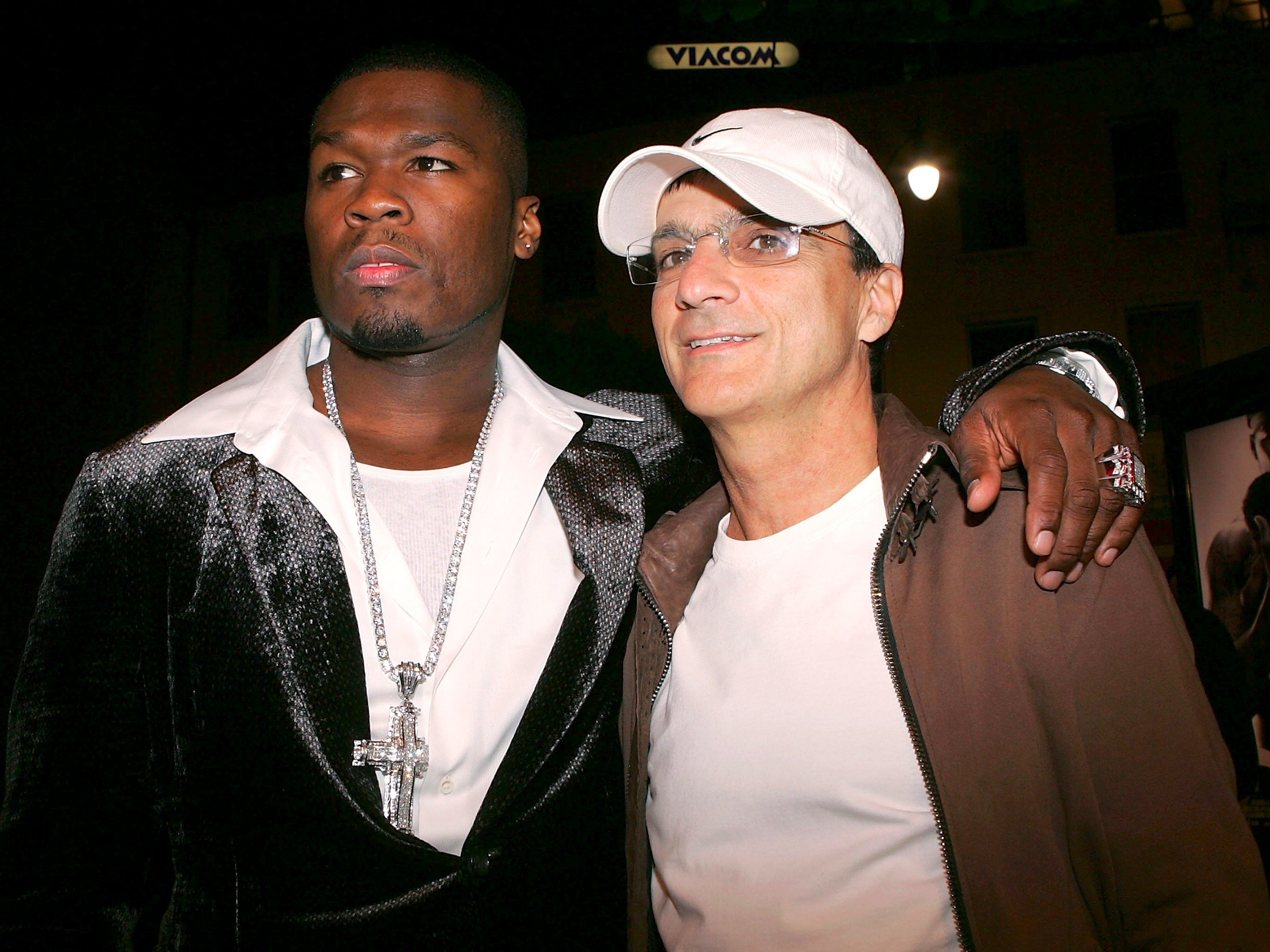 50 Cent and Interscope Records founder Jimmy Iovine in 2005